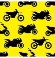 Motorcycle seamless pattern vector image vector image