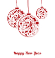 New year balls postcard vector image vector image