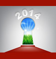 new year red carpet 2014 keyhole vector image