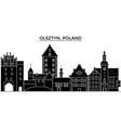 poland olsztyn architecture city skyline vector image