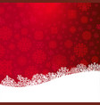 red christmas background with paper cut white vector image