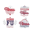 Retro Badges Fitness vector image vector image