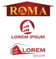 romans symbol set vector image vector image