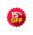 sale tag badge template 15 percent off vector image vector image