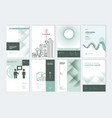set brochure and report design templates vector image vector image