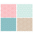 set indian seamless pattern in thin line style vector image vector image