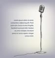 silver retro microphone vector image