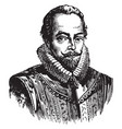sir walter raleigh vintage vector image vector image