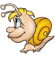 Snail With Yellow Shell vector image vector image