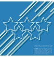 Stars lines background vector image vector image