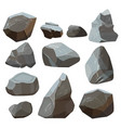 stones cartoon rock mountains flagstone rocky vector image vector image
