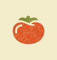 stylized flat icon a tomato vector image vector image