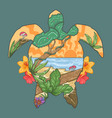 summer turtle vector image
