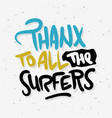 surfing surf thank you sign label for promotion vector image vector image