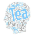 The Scoop On Tea text background wordcloud concept vector image vector image
