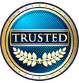 trusted blue icon vector image vector image