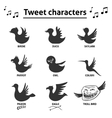 Tweet birds social media internet icons vector image vector image