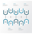 user outline icons set collection of diagram vector image vector image