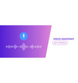 voice assistant soundwave ai vector image vector image