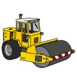 yellow road roller vector image vector image