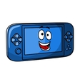 Blue game console vector image