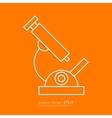 Stock Linear icon microscope vector image