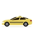 Taxi Cab Isolated vector image