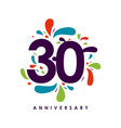 30 year anniversary template design vector image vector image