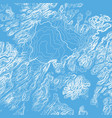 abstract blue earth relief map vector image vector image