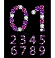 Abstract Luxury Diamond Numbers vector image