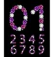 Abstract Luxury Diamond Numbers vector image