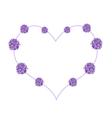 abstract purple flowers in beautiful heart shape
