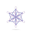 abstract snowflake icon vector image