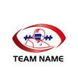 american football team vector image vector image