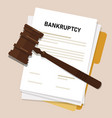 bankruptcy legal law document process company vector image