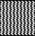 black and white zigzag stripes pattern geometric vector image vector image