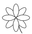 black line flower icon vector image