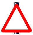 blank triangle traffic sign vector image vector image