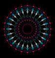 bohemian black mandala hand drawn vector image vector image