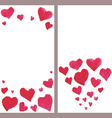Business banners with watercolor hearts vector image