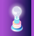 business startup lightbulb creative idea vector image