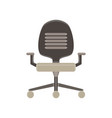chair office icon furniture business isolated vector image vector image