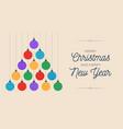 christmas and new year greeting flat cartoon card vector image