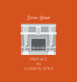 colorful classical fireplace isolated vector image