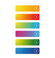 colorful empty button set vector image vector image