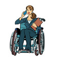 disabled businesswoman isolated on white vector image vector image