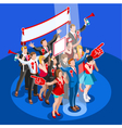 Election Infographic Convention Hall Isometric vector image vector image
