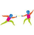 Fencing icon in colors vector image