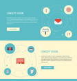 flat icons customer summary letter monitoring vector image