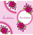 Floral invitation card with bright flowers vector image